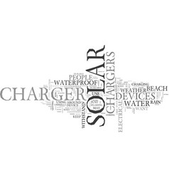 Is there a waterproof solar charger text vector