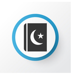 Islam book icon symbol premium quality isolated vector