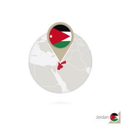 Jordan map and flag in circle map jordan vector
