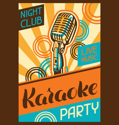 Karaoke party poster music event banner vector