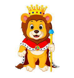 Lion with crown vector