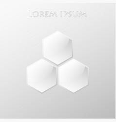Logo design based on hexagons vector