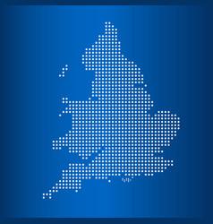 Matrix map of united kingdom vector