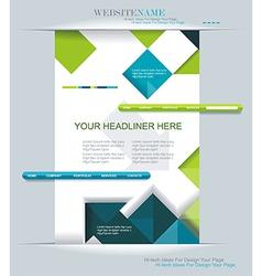 Modern web design vector image