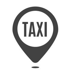 monochrome taxi location icon vector image