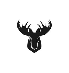 Moose head logo vector