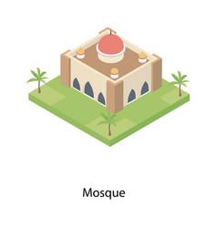 Mosque building architecture vector