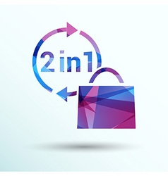 Numbers set modern style vector image