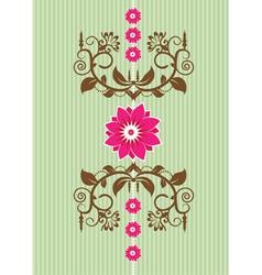 Ornate floral design element vector image