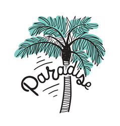 Paradise inscription written with cursive vector