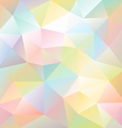 pastel full color spectrum polygon triangular vector image