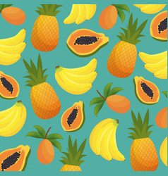 Pattern tropical fruits icon vector