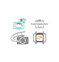 photography service template set vector image
