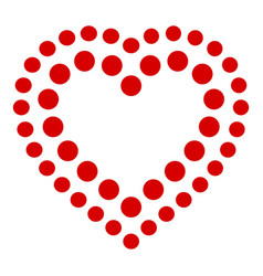 Points heart icon simple style vector