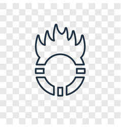 Ring of fire concept linear icon isolated on vector