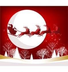 Santa's sleigh vector