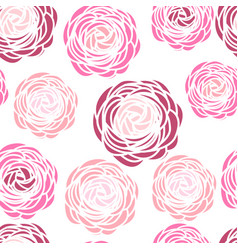Seamless pattern with pink flowers vector