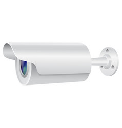 Security camera side view white cctv vector