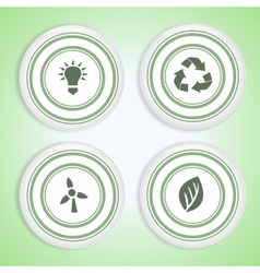 Set of Eco Badges vector image