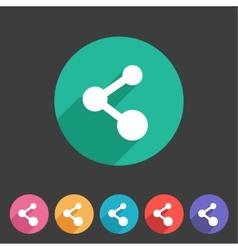 Share flat icon badge vector