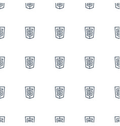 shield icon pattern seamless white background vector image
