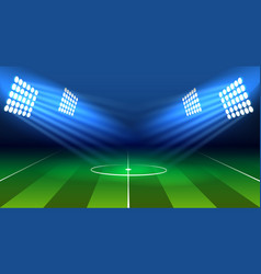 Soccer lamp stadium vector