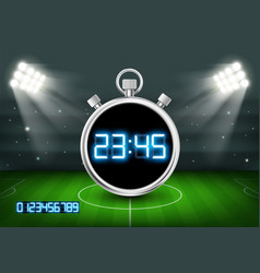 Sports stopwatch with digital dial vector