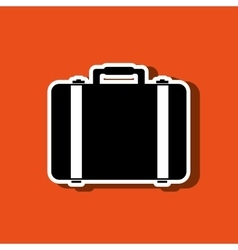 suitcases isolated design vector image