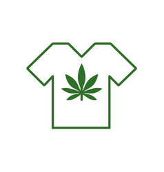 T-shirt designs with cannabis motifs t-shirt with vector