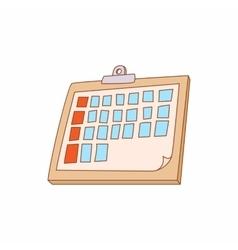 Tablet folder icon cartoon style vector image