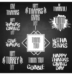 Thanksgiving inscription vector