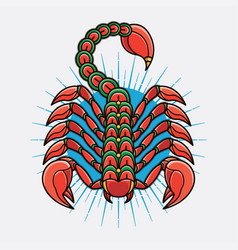 traditional scorpion tattoo ideas vector image