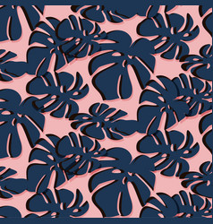 Tropical leaf summer pattern trendy floral beach vector