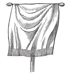 Vexillum - greenough 1899 the flag cloth draped vector