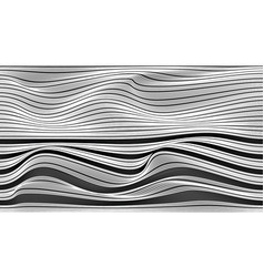 wave vertical abstract lines black and white vector image