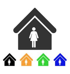 Woman toilet icon vector