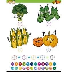 mathematical exercise cartoon vector image