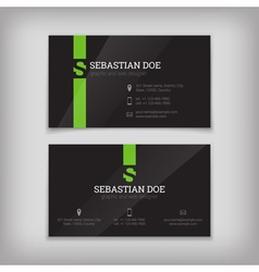Set of business cards templates vector image vector image