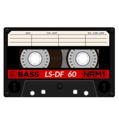 vintage audio cassette tape design vector image