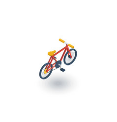 bicycle bike isometric flat icon 3d vector image
