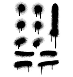 Black spray paint with drips isolated on white vector image