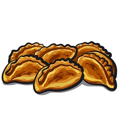 fresh pastries vector image vector image