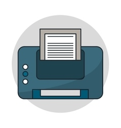 Isolated printer with paper design vector image vector image