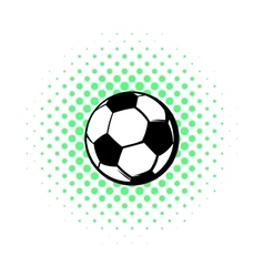 Soccer ball icon comics style vector image vector image