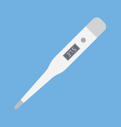 Digital thermometer for medical examination vector