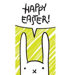 easter bunny speech bubble vector image