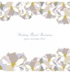 Vintage Delicate White geranium Flowers card vector image vector image