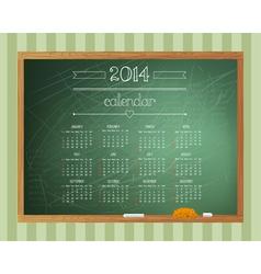 chalkboard calendar vector image vector image