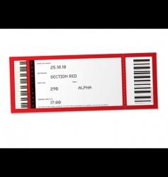 concert event ticket vector image vector image