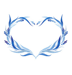 indigo blue hand drawn wreath vector image vector image